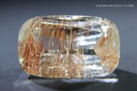 Colourless Topaz with Limonite inclusions, faceted, Myanmar. 49.14 carats.